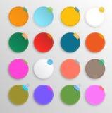 Colorful circle set celebration background. Royalty Free Stock Image