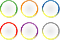 Colorful circle-shaped labels/stickers Stock Image