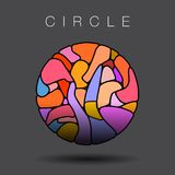 Colorful circle with stained glass Royalty Free Stock Photos