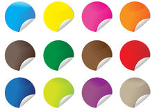 Colorful circle sticker Royalty Free Stock Images