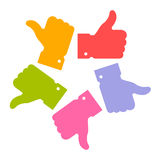 Colorful circle thumb up icons Royalty Free Stock Photos