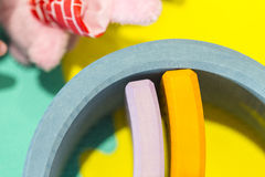 Colorful circle toys close up Stock Image
