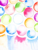 Colorful circle watercolor background painted Royalty Free Stock Images