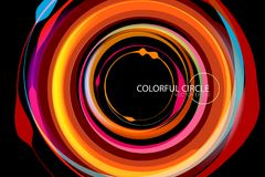 Colorful Circle With Orange Shape Scene Vector Royalty Free Stock Photo