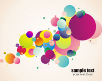 Colorful circles Stock Image
