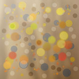 Colorful Circles. A decorative and colorful assortment of randomly placed bubbles, circles, spheres or orbs in blue, red, orange. Ideal as background, texture or Stock Photos