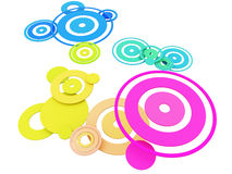 Colorful Circles. Colorful 3D Circles on White Background Royalty Free Stock Images