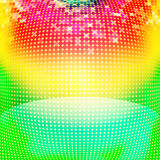 Colorful circles abstract background. Disco lights stock illustration