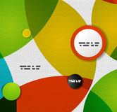 Colorful circles abstract vector design template. This is file of EPS10 format Stock Photos