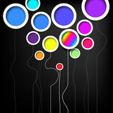 Colorful circles background, Rainbow circles, Decorative circles Royalty Free Stock Photography