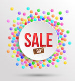 Colorful circles background with Sale. Royalty Free Stock Photography
