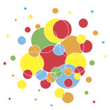 Colorful Circles Background Royalty Free Stock Image