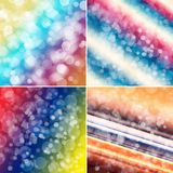 Colorful circles, backgrounds. Set of colorful circles with bokeh background Stock Photography