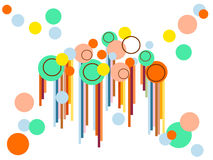 Colorful circles. And balls over white background Stock Photos
