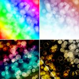 Colorful circles with bokeh background. Set of colorful circles with bokeh background, illustration Royalty Free Stock Photography