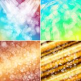 Colorful circles with bokeh background. Set of colorful circles with bokeh background, illustration Stock Images