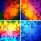 Colorful circles with bokeh background. Set of colorful circles with bokeh background, illustration Stock Photography