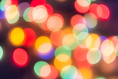 Colorful circles of bokeh light abstract Stock Photo