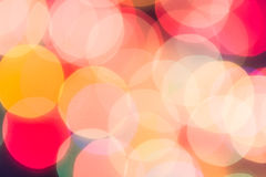 Colorful circles of bokeh light abstract Royalty Free Stock Images