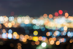 Colorful circles of bokeh light abstract Royalty Free Stock Photography