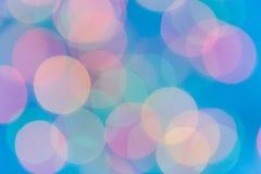 Colorful circles of bokeh light abstract Stock Image