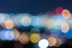 Colorful circles of bokeh light abstract Stock Photography