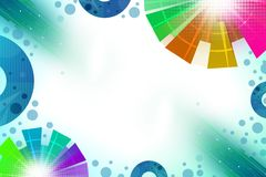 colorful circles both side, abstract background Royalty Free Stock Images