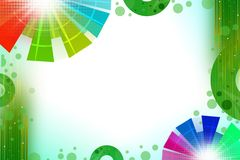 colorful circles both side with green circle, abstract background Royalty Free Stock Photography