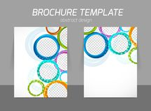 Colorful circles brochure Stock Photos
