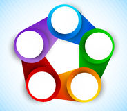 Colorful circles diagram Stock Image