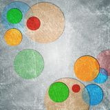 Colorful circles on grunge backdrop Royalty Free Stock Photos