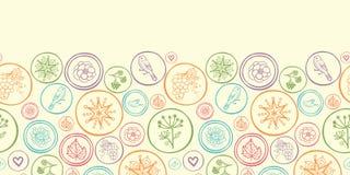 Colorful circles horizontal seamless pattern Stock Photos