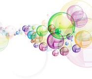 Colorful circles illustration Stock Image