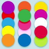 Colorful circles layered Stock Photo