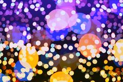 Colorful circles of light abstract background Royalty Free Stock Photos