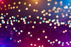 Colorful circles of light abstract background. Abstract blurred light background layout design can be use for background concept or festival background Royalty Free Stock Photos