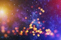 Colorful circles of light abstract background. Abstract blurred light background layout design can be use for background concept or festival background Royalty Free Stock Images