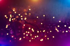 Colorful circles of light abstract background. Abstract blurred light background layout design can be use for background concept or festival background Stock Photography