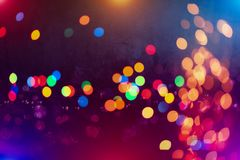 Colorful circles of light abstract background. Abstract blurred light background layout design can be use for background concept or festival background Stock Photos