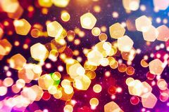 Colorful circles of light abstract background. Abstract blurred light background layout design can be use for background concept or festival background Stock Photo