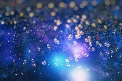 Colorful circles of light abstract background. Abstract blurred light background layout design can be use for background concept or festival background Stock Images