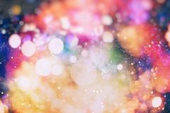 Colorful circles of light abstract background. Abstract blurred light background layout design can be use for background concept or festival background Stock Image