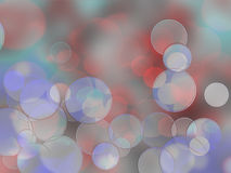 Colorful circles of light abstract background. Holiday card Royalty Free Stock Photos