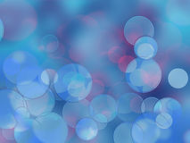 Colorful circles of light abstract background. Holiday card Stock Photography
