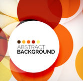 Colorful circles modern abstract composition Royalty Free Stock Photography