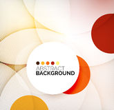 Colorful circles modern abstract composition Stock Images
