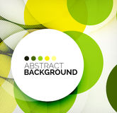 Colorful circles modern abstract composition Royalty Free Stock Image