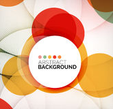 Colorful circles modern abstract composition Royalty Free Stock Photos