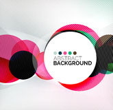 Colorful circles modern abstract composition Stock Photo