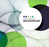 Colorful circles modern abstract composition Royalty Free Stock Photo
